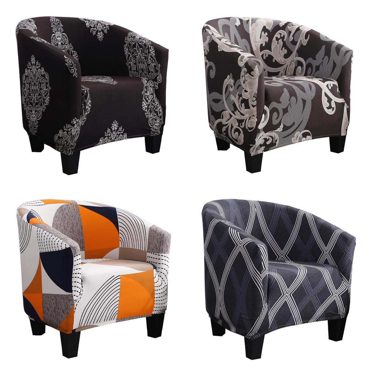 one-seater chair cover armchair slipcover for club cafe bar decorations