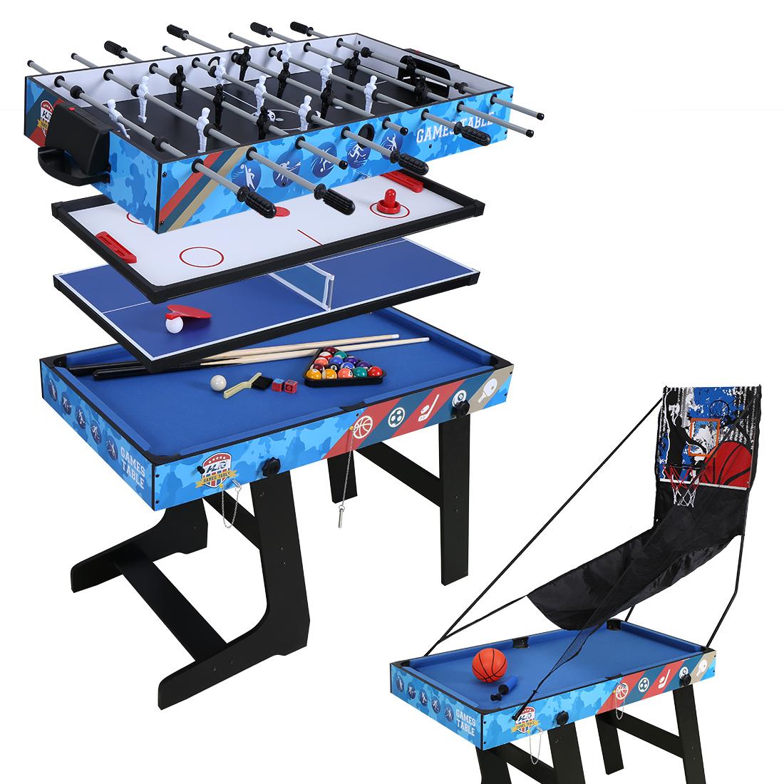 table multi jeux pliante billard tennis babyfoot hockey basketball cadeau no l ebay. Black Bedroom Furniture Sets. Home Design Ideas