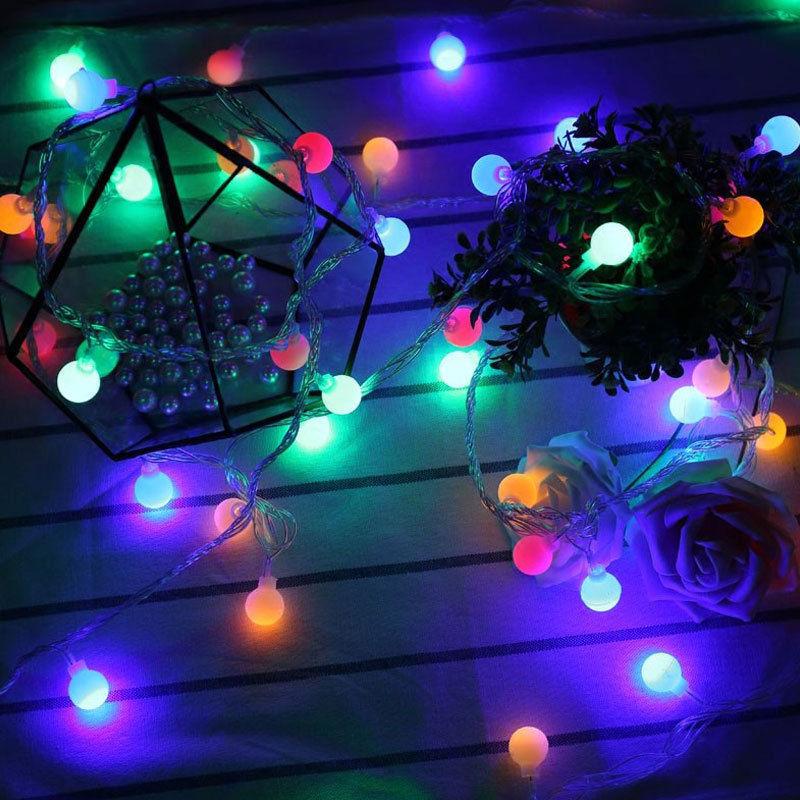 10m 20m led lichterkette kugeln gartenbeleuchtung partylichterkette weihnachten ebay. Black Bedroom Furniture Sets. Home Design Ideas