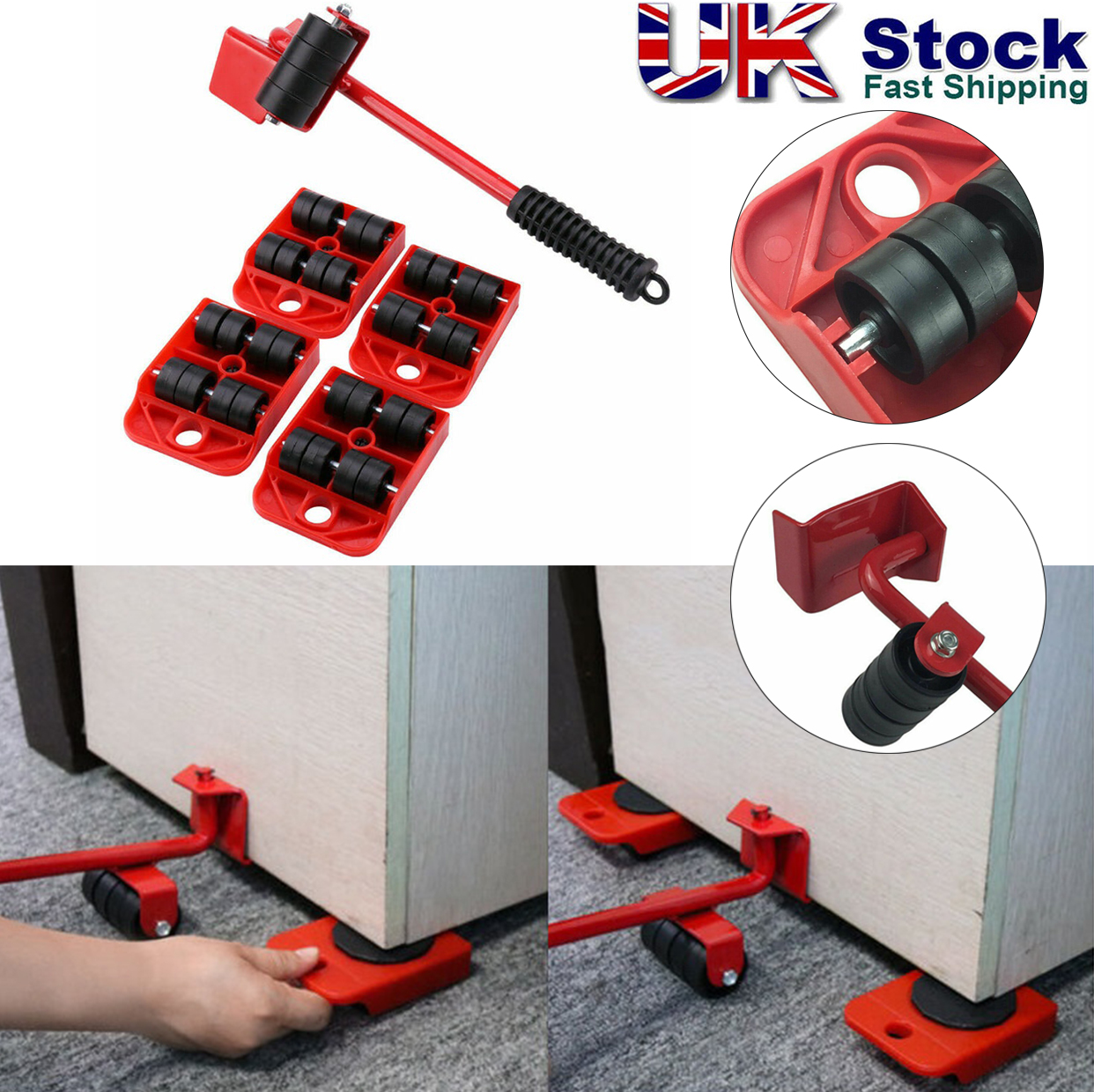 Heavy Furniture Shifter Lifter Wheels Moving Slider Mover Table Sofa Removal Set