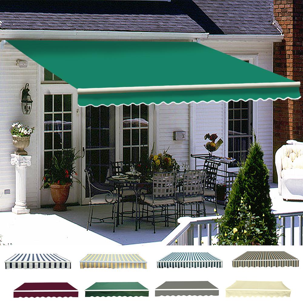 research.unir.net Patio DIY Manual Awning Outdoor Garden Canopy ...