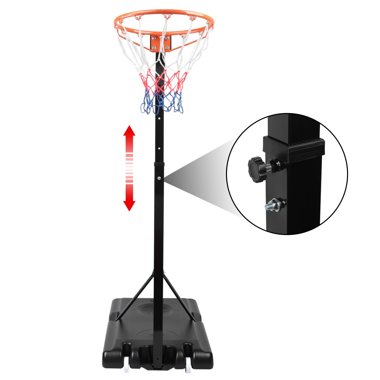 8FT-10FT Portable Netball Hoop and Post Freestanding Netball Post on Wheels UK