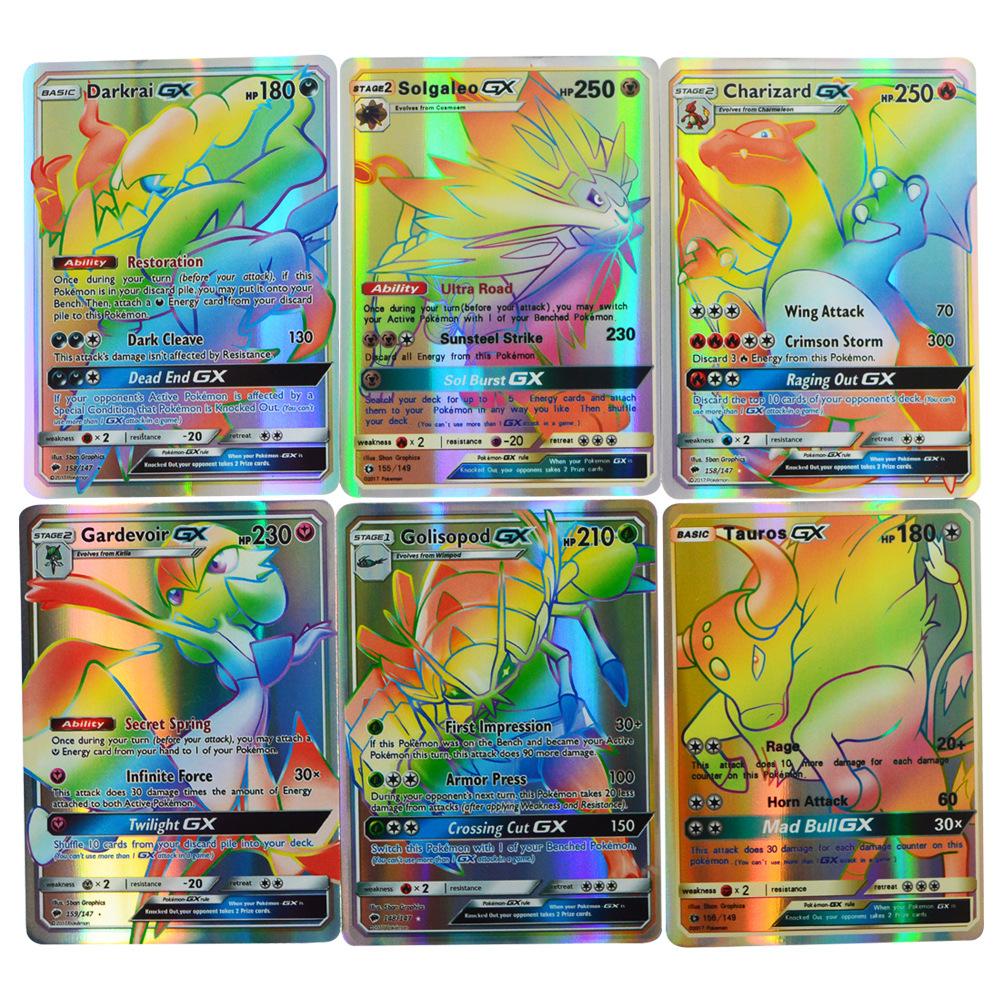 Sammelkartenspiele/TCGs Pokémon Sammelkartenspiel REV HOLO 120 Kartenbündel Holo Flash 120GX Karten Pokemon RANDOM RARE