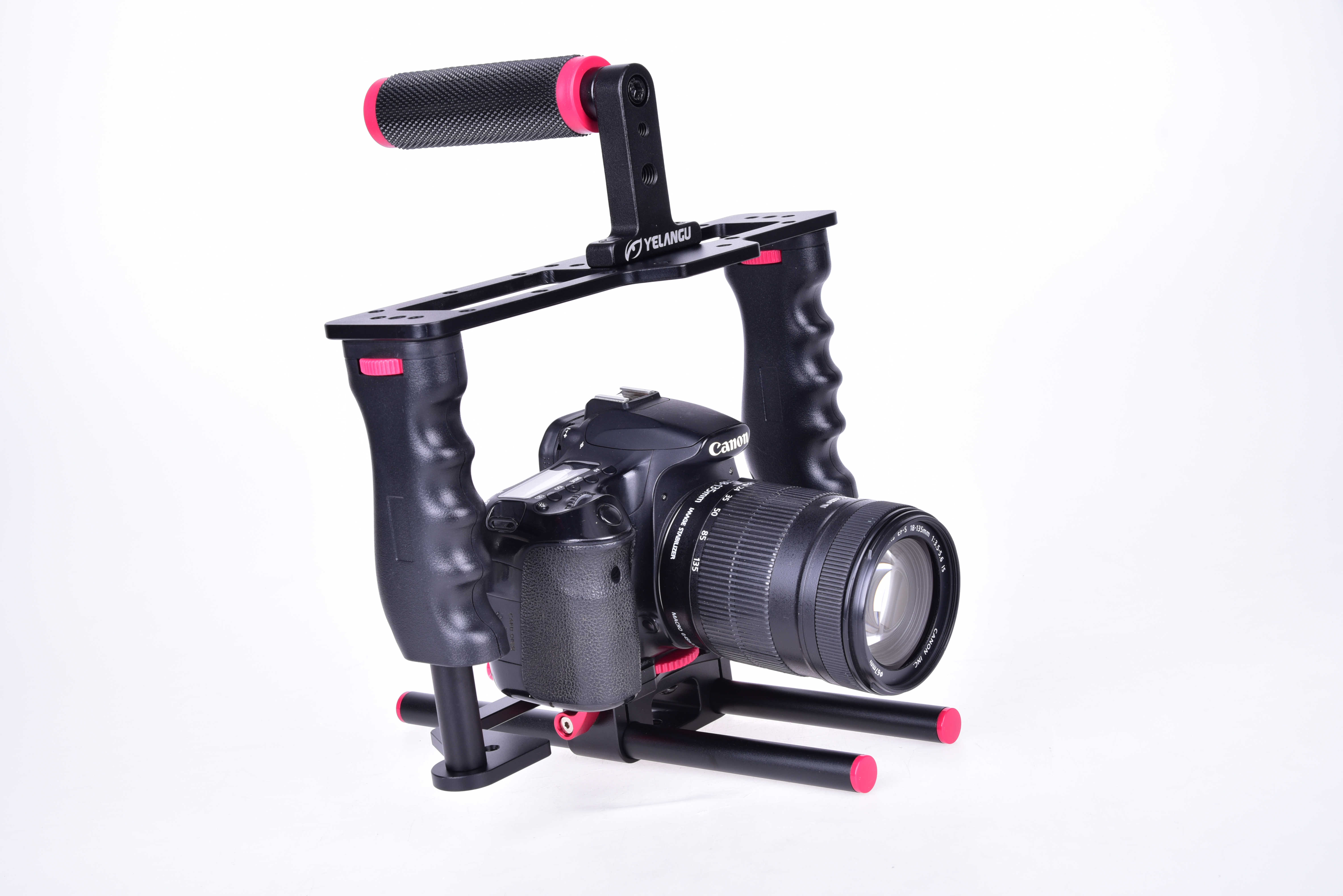 etc. Such as Travelling Live Broadcasting YELANGU Handheld Portable Metal Phone Camera Cage Stabilizer Rig Handle Grip Kit Portable and Lightweight Perfect for Outdoor Uses Camera Cage