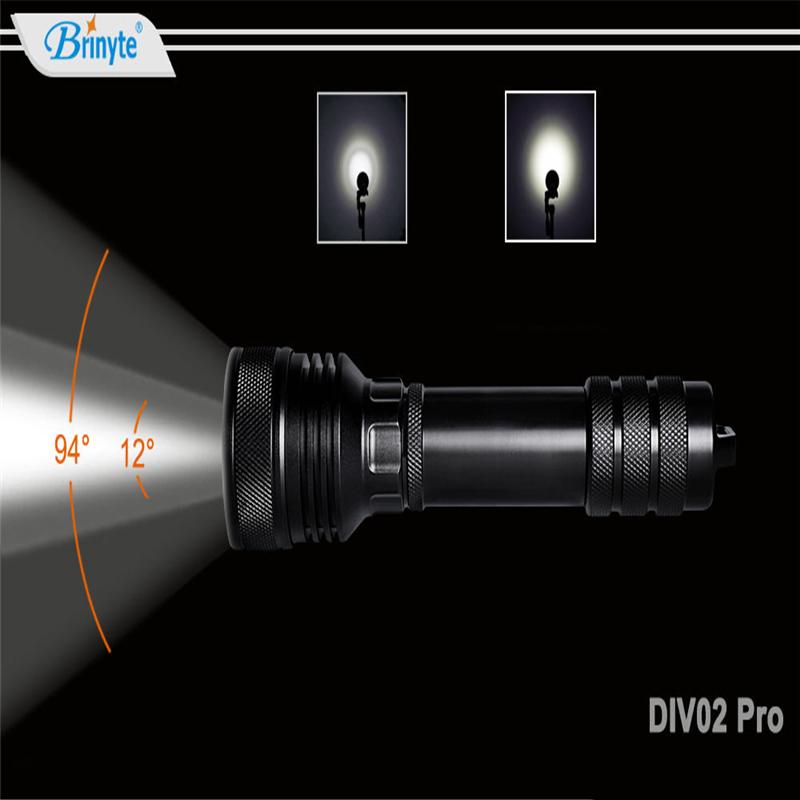DIV02-pro-Immersione-Torcia-Riflettore-Riverbero-Torcia-Lega-di-Alluminio miniatura 2