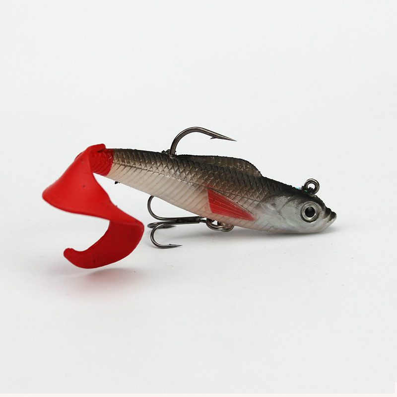 Mehrfarbig-Tasche-Kabel-Fisch-Set-Box-und-Weichen-Koeder-5-Teile-Fischkoeder Indexbild 4