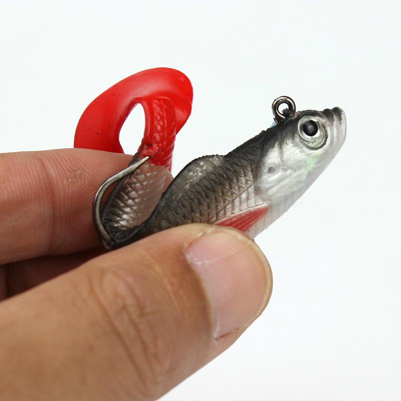 Mehrfarbig-Tasche-Kabel-Fisch-Set-Box-und-Weichen-Koeder-5-Teile-Fischkoeder Indexbild 6