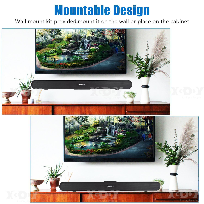 40W Sound Bar Powerful Bluetooth Speaker TV Home Theater System Soundbar HIFI HD