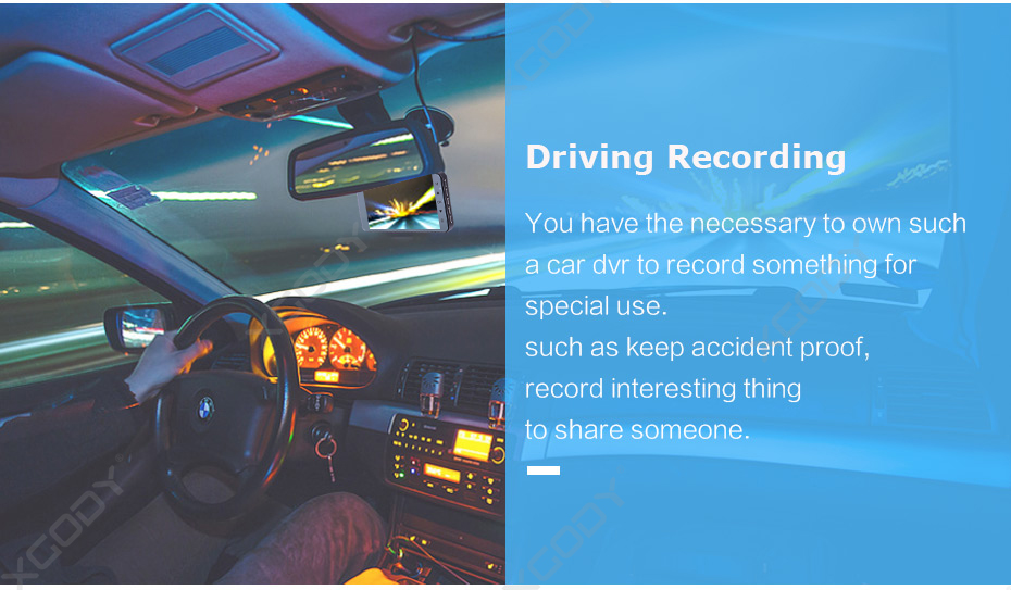 "XGODY A10 4"" Touch Screen FHD Car DVR Camera"