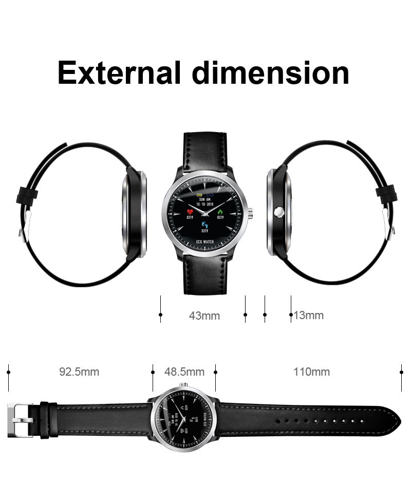 N58 ECG Smart Watch Heart Rate Monitor Bluetooth Bracelet