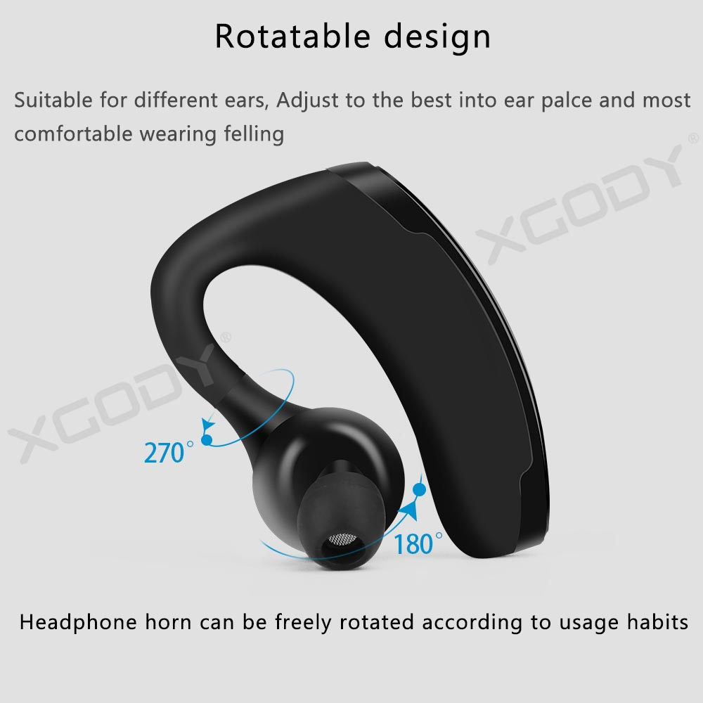Details about Bluetooth Headset TWS Wireless Earphones Ear Hook Running  Stereo Headphone W/Mic