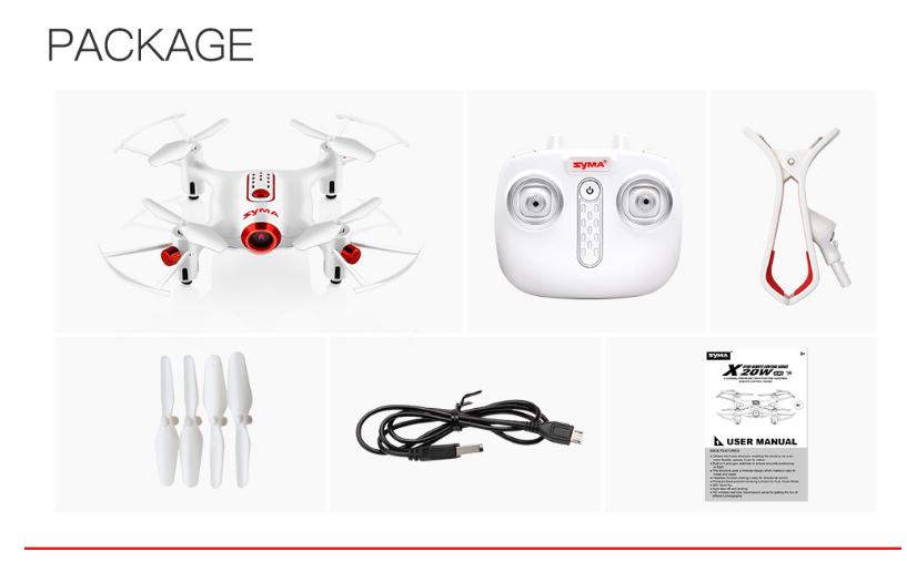 RC Syma X20W Abs Plastic Mini HD Camera Realtime FPV Drone