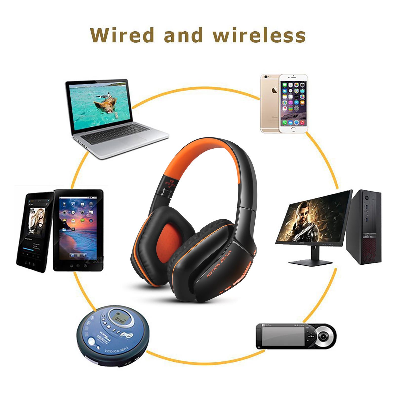 over ear bluetooth headset w mic gaming kopfh rer. Black Bedroom Furniture Sets. Home Design Ideas