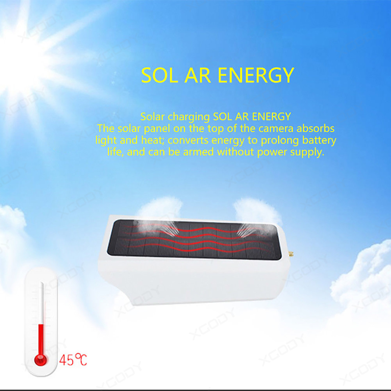1080p kabellos ip kamera solar hd wlan berwachungskamera. Black Bedroom Furniture Sets. Home Design Ideas