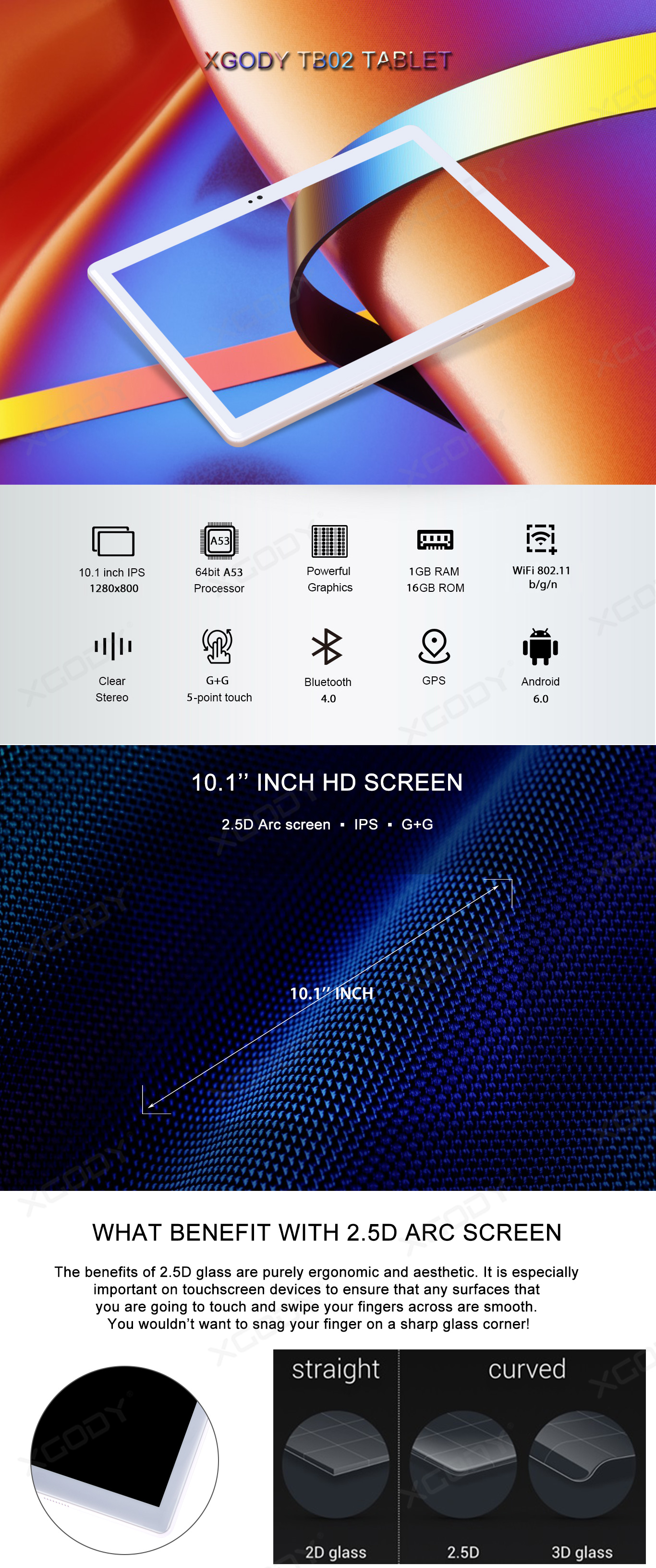 10.1 inch G+G Arc Screen
