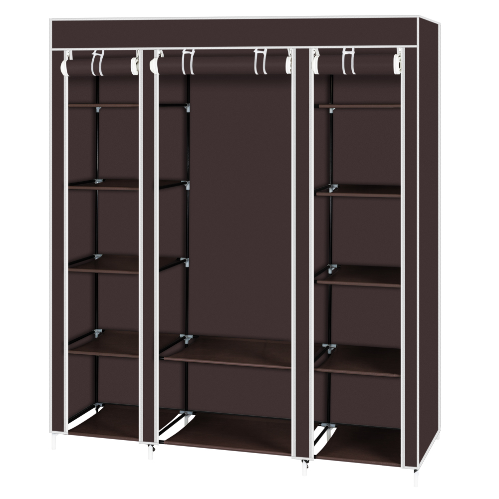 Details About Portable Wardrobe Clothes Garment Closet Storage Rack Bedroom Dustproof Cover