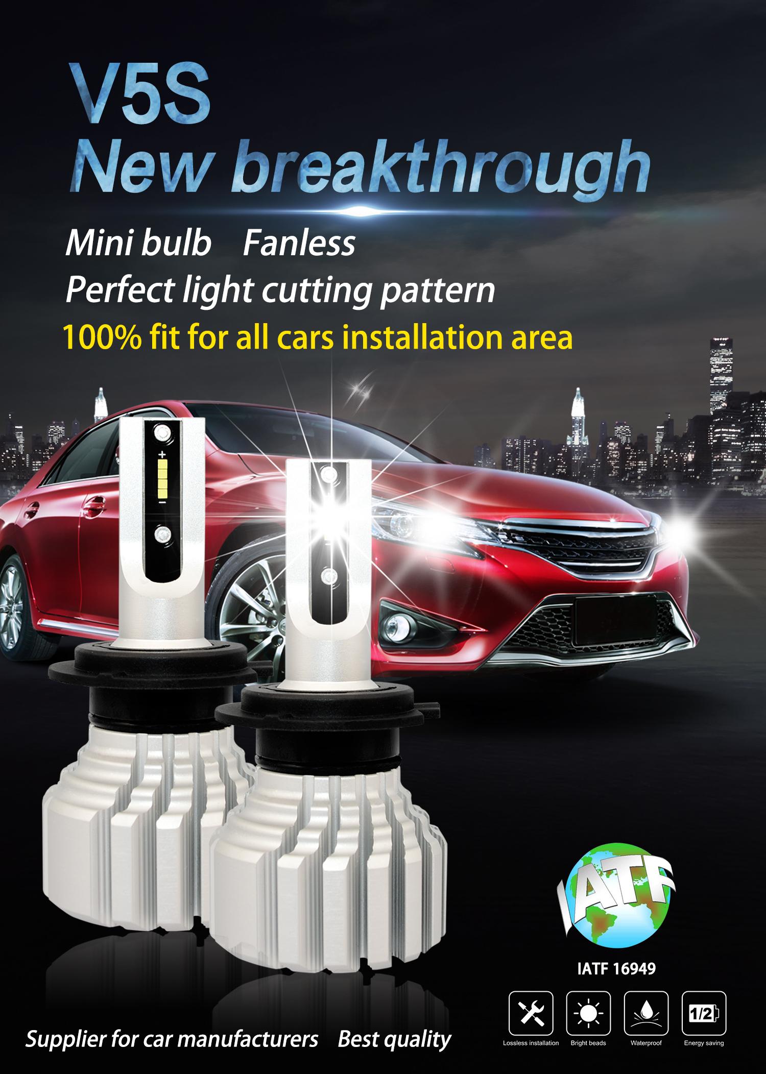 2PC H7 Bulbs 110W LED Headlight Conversion Kit Light Cars Driving Lamps 6500K