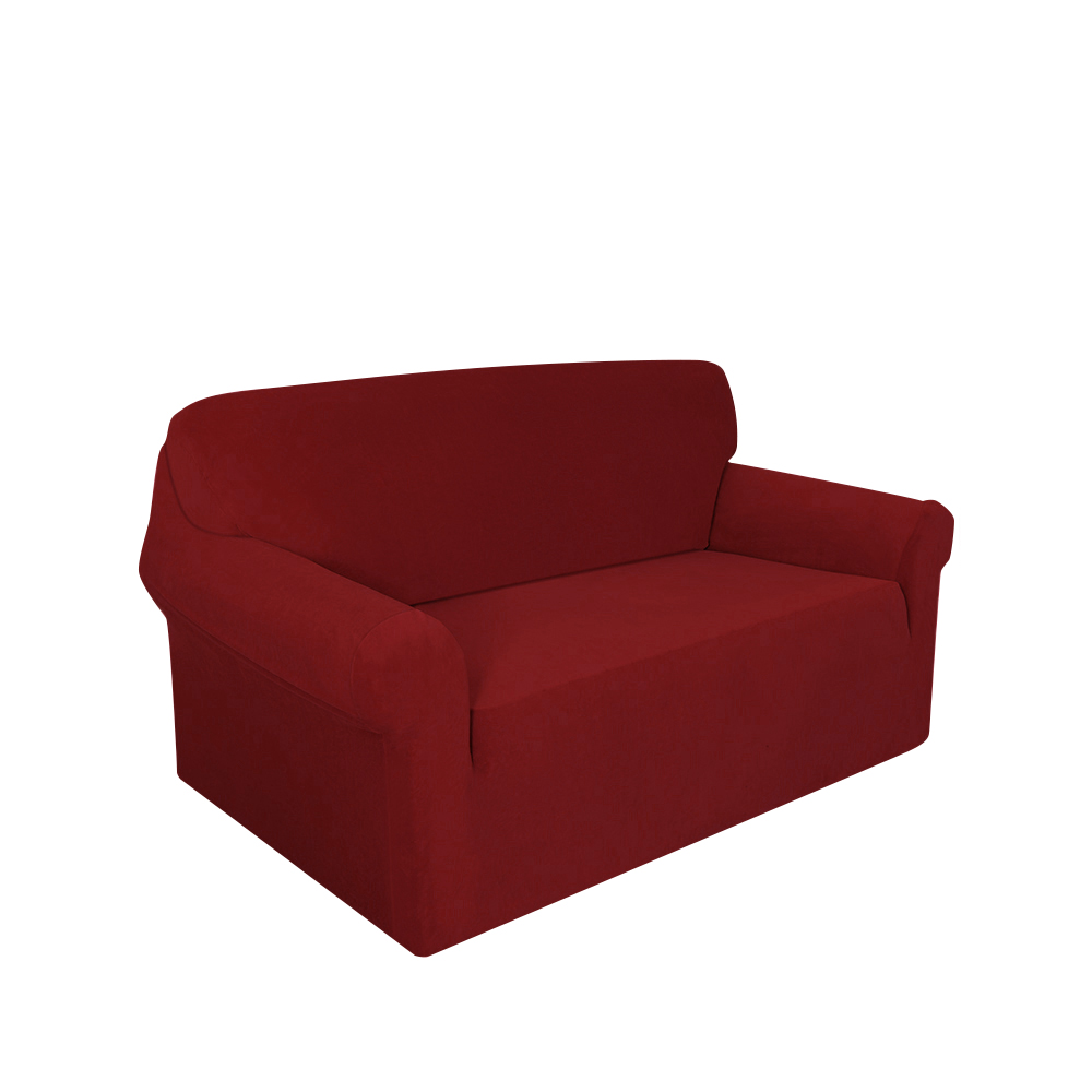 Details about Modern 1 - 3 Seater Stretch Slipcover Sofa Cover Furniture  Protector Wine Red