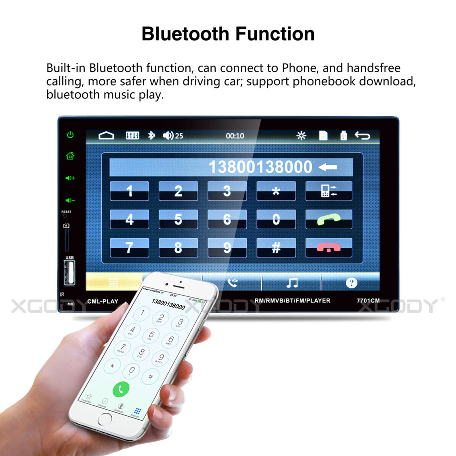 Details about 7 Inch Car Stereo Radio USB AUX HD BT Mirror Link Touch  Screen MP5 Player