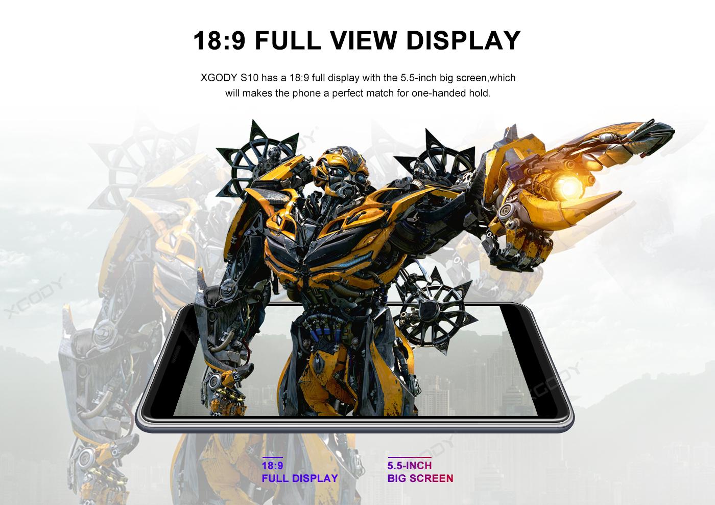 XGODY 18:9 ratio screen size