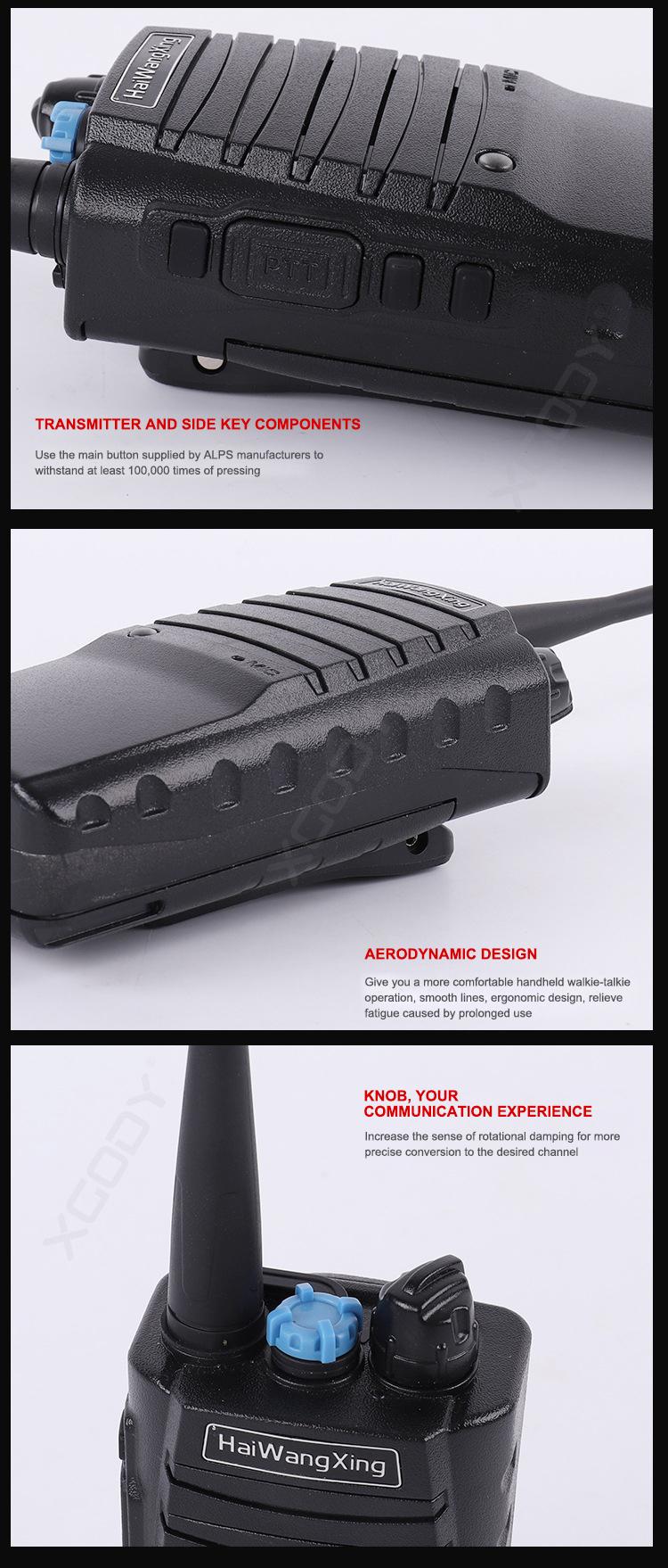 HWX X15 15W Walkie Talkie UHF CTCSS DCS Two Way Radio Long Range 5600mAh Headset