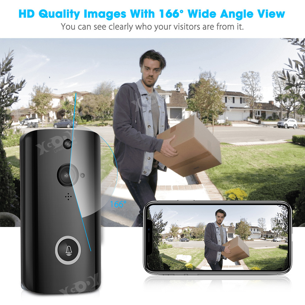 Wireless video doorbell smart ring camera bell door