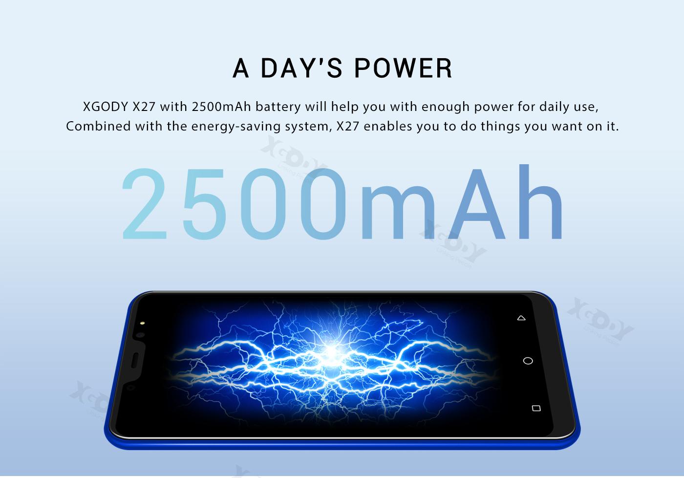 "XGODY X27 Dual SIM 16GB 3G 5"" Unlocked Smartphone"