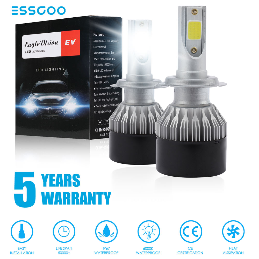 NIGHTEYE H11//H8//H9 Led Headlight Bulbs 50W 8000LM 6500K All-in-one Conversion Kit w// CSP Chips Bulb for DRL Fog Lights for Cars Jeep off Road Trucks ATV SUV pack of 2 Ltd A315-S1-H11 Shenzhen Xin Sheng Shang Technology Co