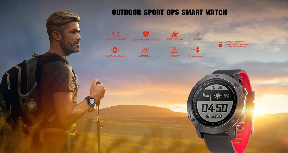 DM18A Men's Waterproof SmartWatch Bluetooth GPS