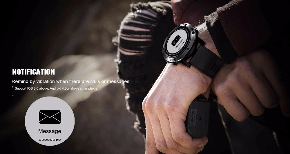 DM18A Men's Waterproof SmartWatch Bluetooth GPS
