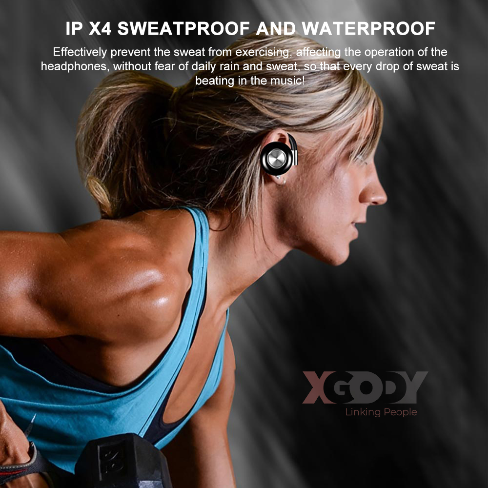 Air v5 Bluetooth 5.0 TWS Wireless Waterproof HIFI Stereo Sport Earbuds