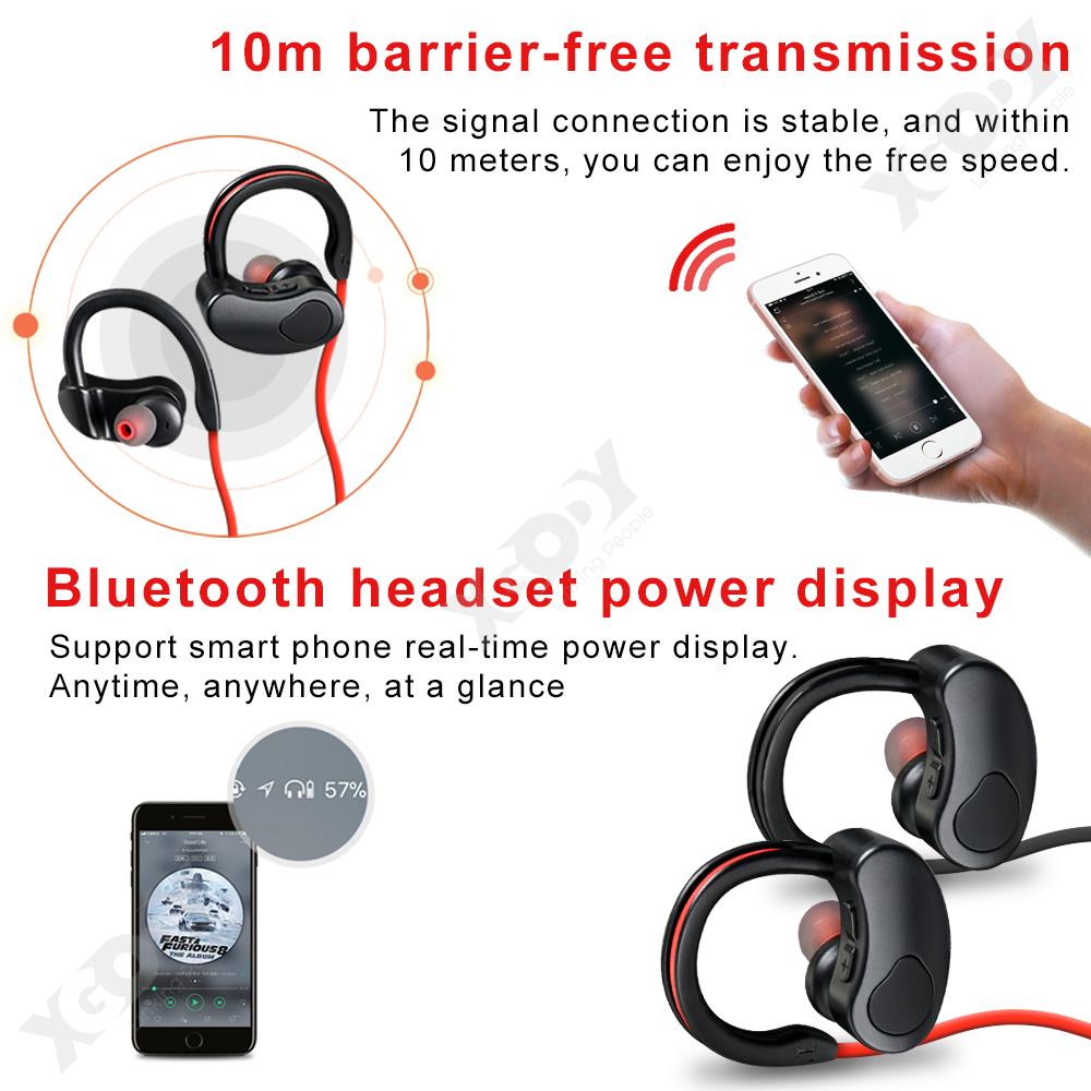 XGody K100 Bluetooth 5.0 Wireless Neckband Sports Headset