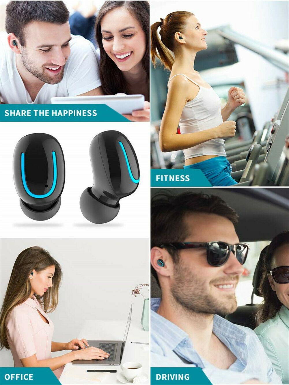 Wireless Bluetooth Headset 5.0 Sport TWS Waterproof Earbuds
