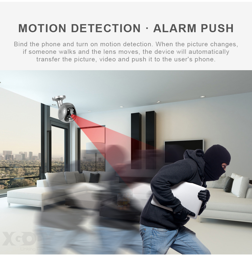 XGody 19Q5 Indoor/Outdoor Infrared Night Vision Wifi Camera