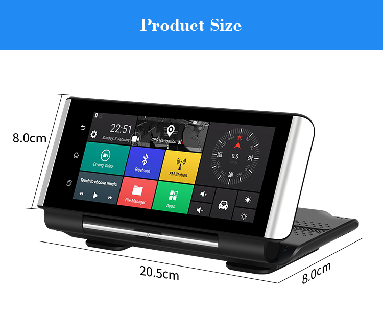 XGody K6 Best Dual Camera Touch Screen Dvr
