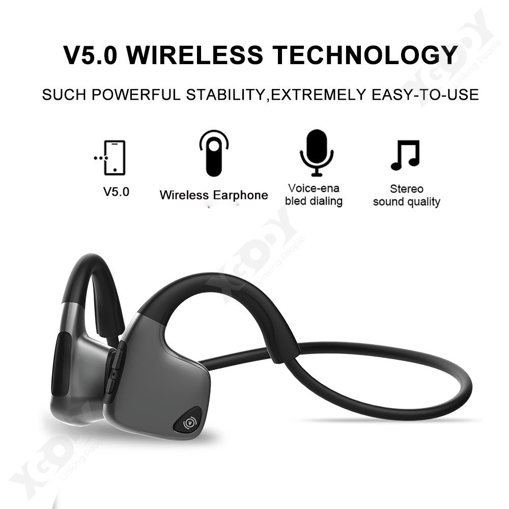 Details about BT5 0 Bone Conduction Headphones Open-Ear Headsets Driving  Earphones With Mic
