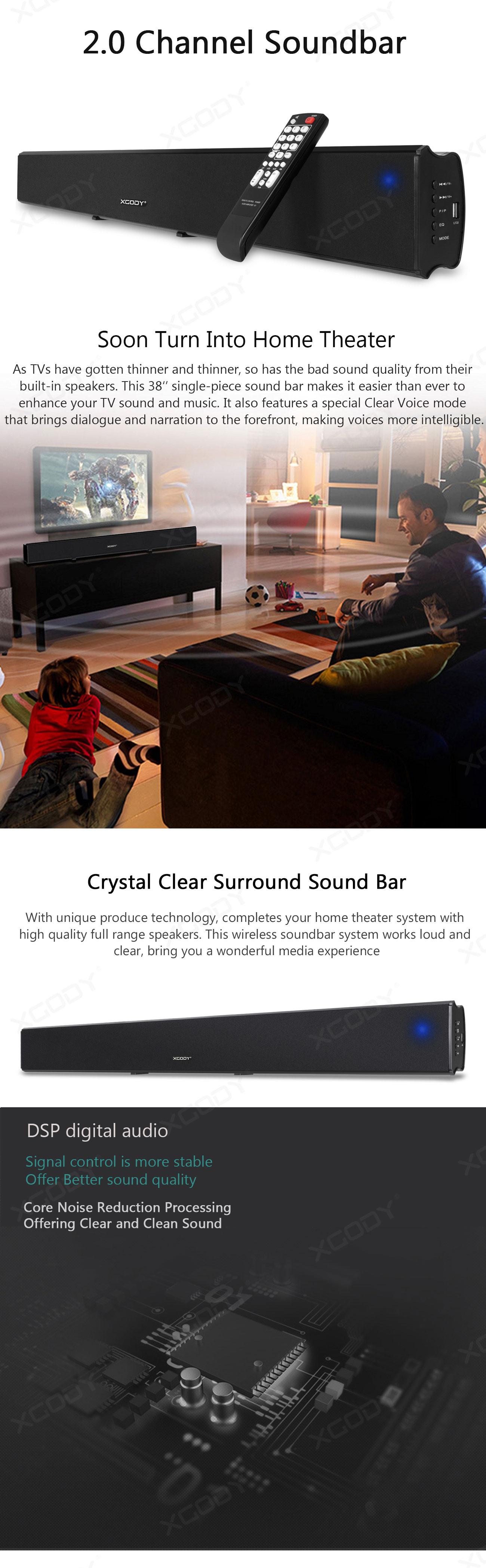 1013a TV Sound Bar Home Theater Soundbar System