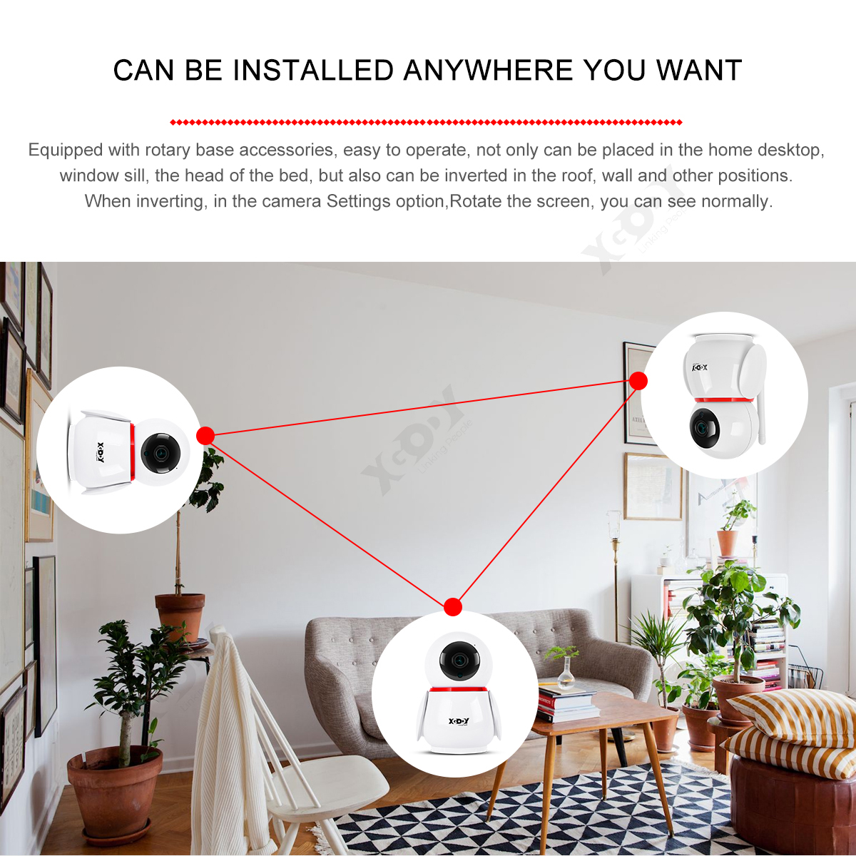 XGODY TV-228ZD HD WIFI Camera for Indoor Security