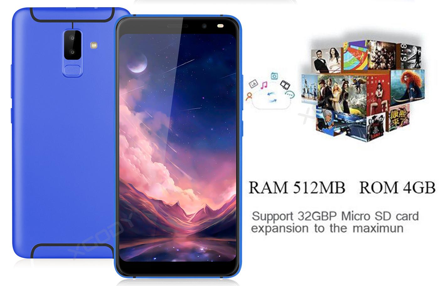 "6.0"" 3G Android Smartphone Quad Core Dual SIM 5MP Unlocked"