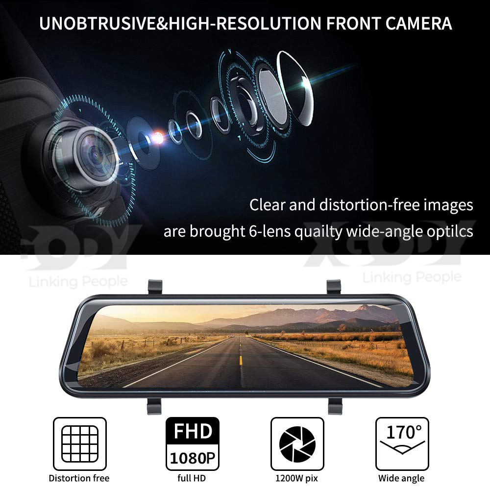 XGody H21 Best Dash Cam DVR Recorder with Touch Screen