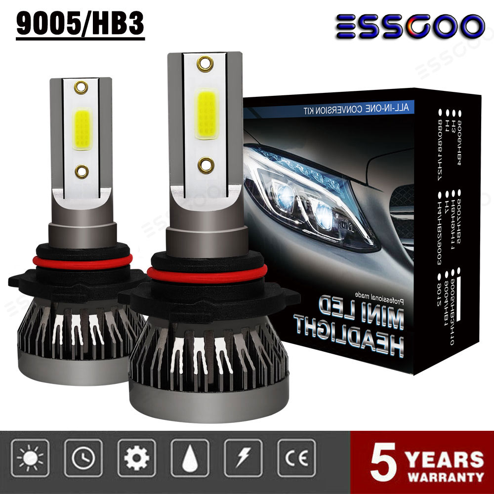 ESSGOO 2Pcs H7 Auto LED Headlight Bulbs CREE 3900W 570000LM 6000K White No Error