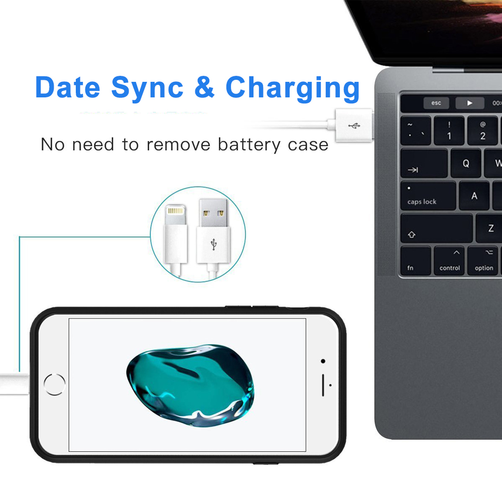 iPhone 6/7/8 Portable Charging Case Cover Power Bank