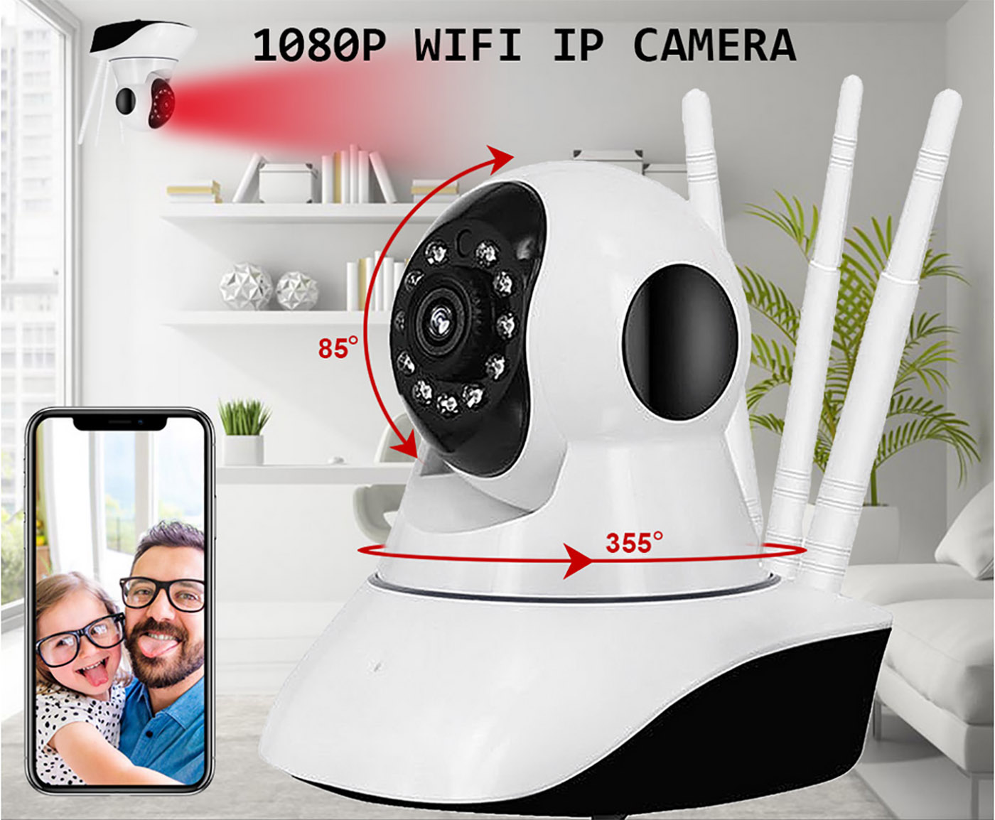 XGody A1002M Two Way Audio Remote view Indoor Security Wifi Camera