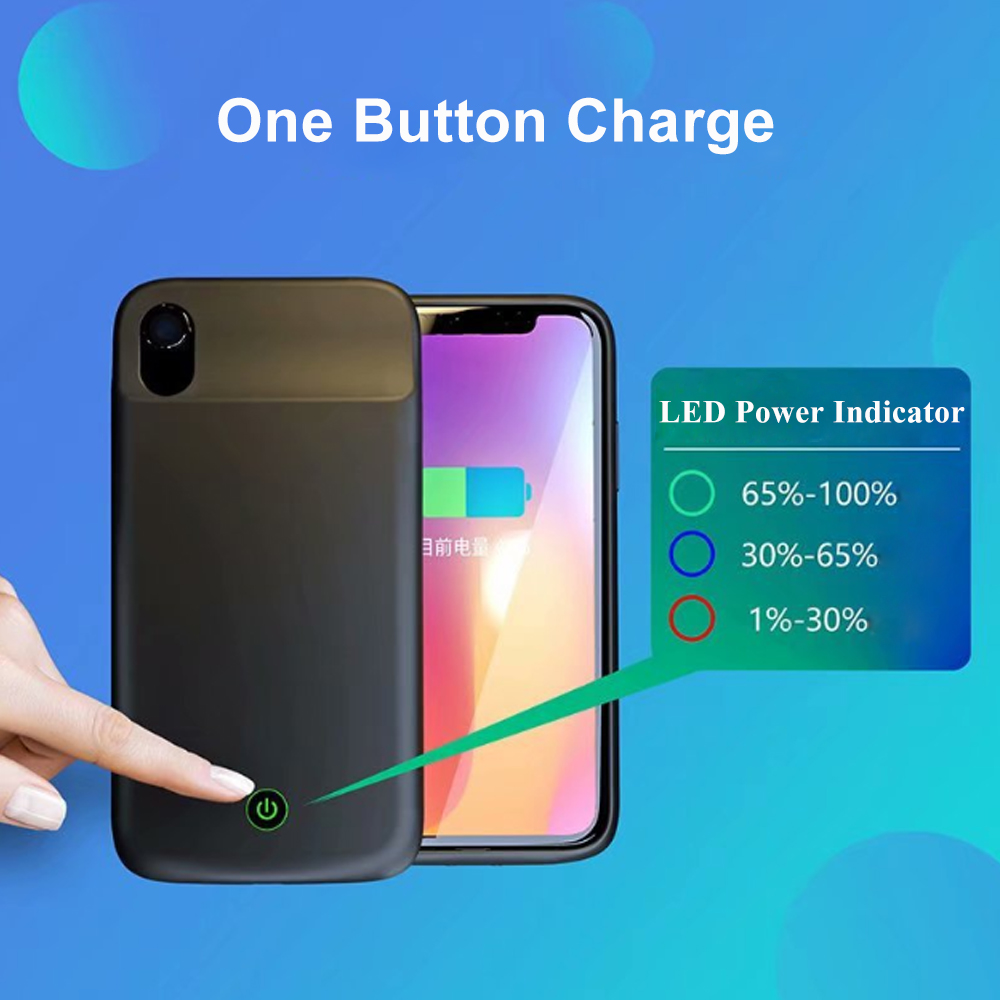 iPhone X/XS XR Charging Power Bank Cover