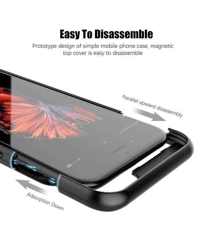Ultra Slim iPhone 6 7 8 Plus Charging Power Bank Cover