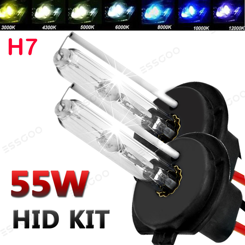 HSUN H7 HID Conversion Kit,With Reliable Ballast Fit Car H7 Factory Headlight,6000K Xenon White