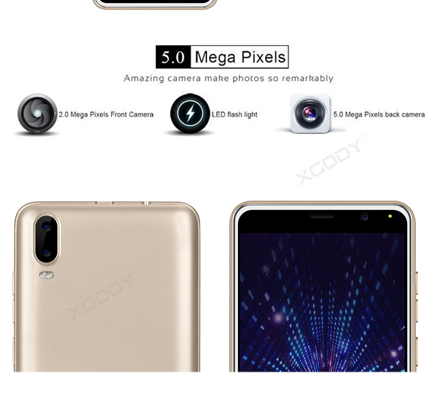 Android 8.1 Unlocked Touch Quad Core 2 SIM 3G GSM T-Mobile