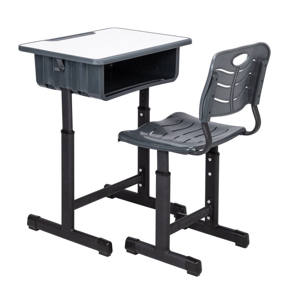 Pleasing Details About Work Station Adjustable Height Students Children Desk And Chairs Set Table Black Cjindustries Chair Design For Home Cjindustriesco