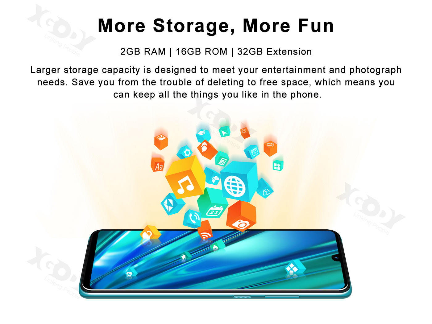 XGODY 9T Pro Android Smartphone with 16GB