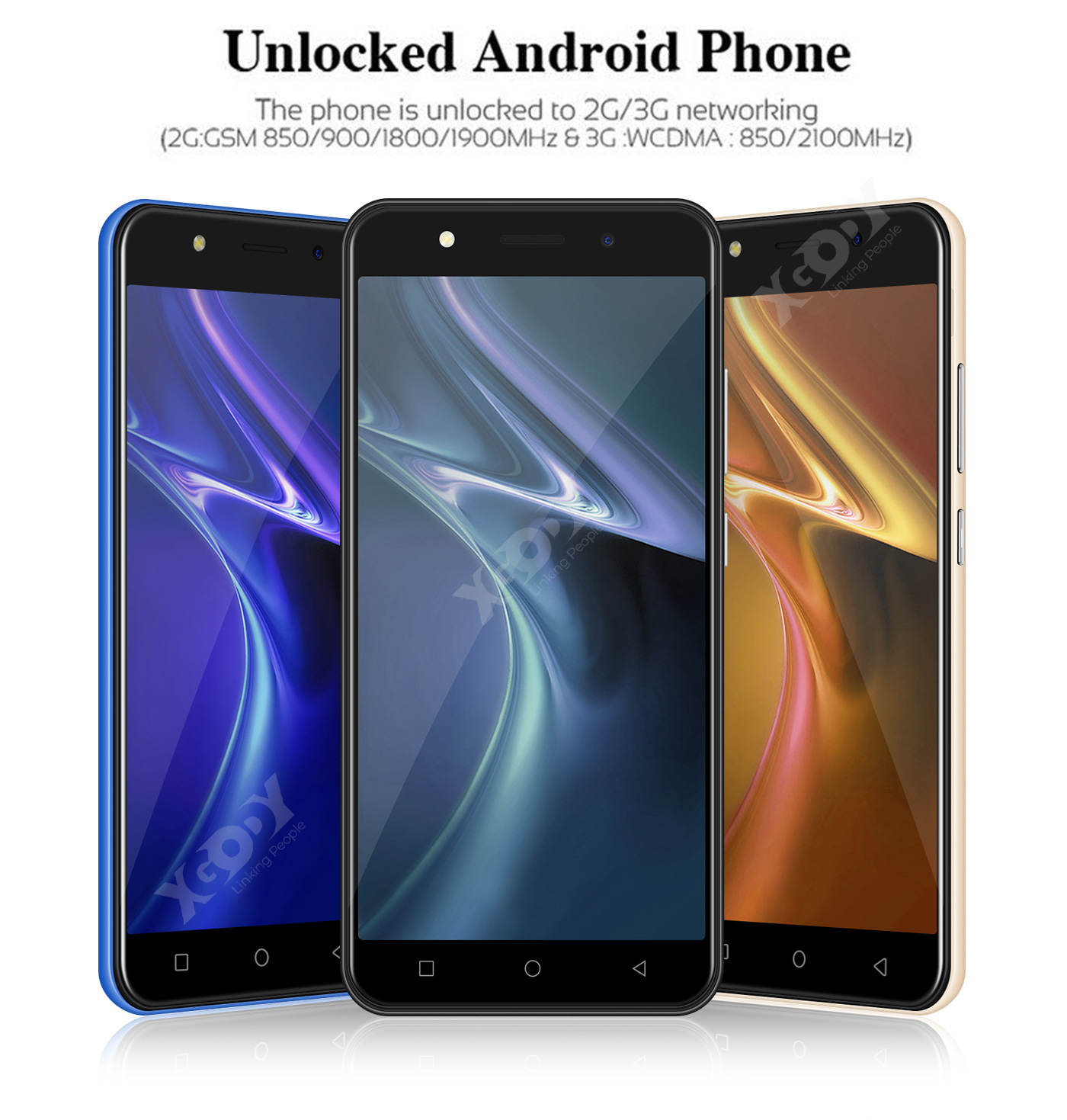Cheap Unlocked Smartphone Android 8.1 5MP 4Core Dual SIM